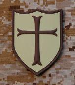 AOR1 3D PVC Navy SEAL Crusader Team 6 Shield Patch