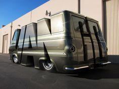 Customized 70's van. More art than vehicle.