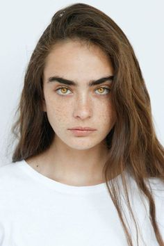 The Society F/W 2017 Polaroids/Portraits (Polaroids/Digitals) Dark Brown Eyes, Light Brown Hair, Light Hair, Brown Hair And Freckles, Moles On Face, Face Aesthetic, Dark Eyebrows, Amber Eyes, High Cheekbones