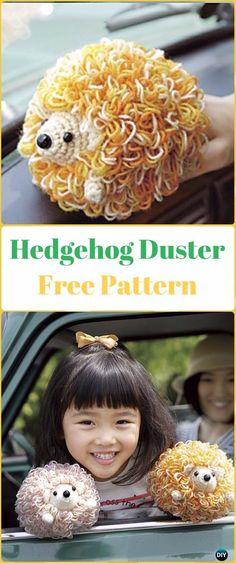 Amigurumi Crochet Hedgehog Duster Free Pattern - Crochet Hedgehog Free Patterns
