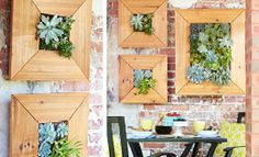 Wall Mounted Succulent Planter @ Lowes #succulent garden