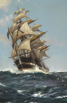 """Crest of a Wave"" by Montague Dawson"