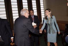 Letizia wears Felipe Varela at the UN September 23, 2014