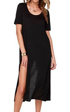 Smile YKK Women Fashion Black In Flow Motion Knit Loose Midi Dress Clubwear. polyester+spandex. Size:Bust 100-150cm waist 80-130cm hip 115cm length 115cm. Great for homecoming, prom, wedding or club and cocktail parties. High quality blend fabric keeps you cool and comfortable!. High Open Slit Dress Sexy Lingerie Set.