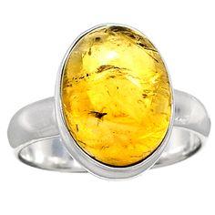 Citrine 925 Sterling Silver Ring Jewelry s.7.5 CTCR311 - JJDesignerJewelry