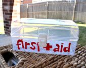 clear first aid box... genius
