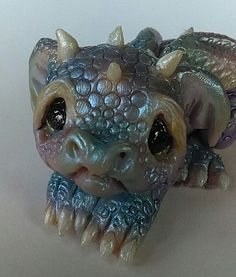 OOAK Hand Sculpted Miniature Baby Dragon, Original Fairy Art Doll | Dolls & Bears, Dolls, Art Dolls-OOAK | eBay!