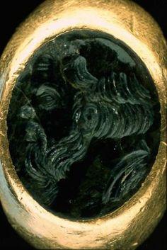 Greek intaglio, in Roman gold ring  Greek and Roman, Hellenistic Period .