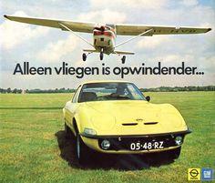 Opel Gt advertisment in dutch