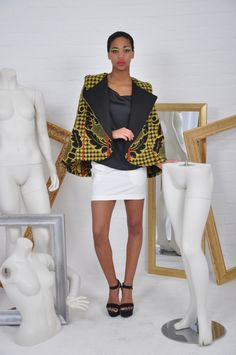 Thabo Makhetha Designs is a Port Elizabeth-based fashion design and manufacturing company. African Dresses For Women, African Print Dresses, African Women, African Prints, African Inspired Fashion, Africa Fashion, Ethnic Fashion, African Lace, African Wear