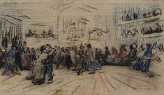 Vincent Van Gogh, Couple Dancing, 1885, chalk on paper, @vangoghmuseum, Amsterdam #dance