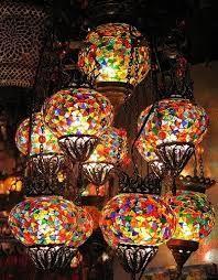Turkish Glass Mosaic Lanterns Istanbul by nichola chapman Mosaic Art, Mosaic Glass, Mosaics, Style Marocain, Lampe Art Deco, Turkish Lamps, Turkish Lanterns, Morrocan Lamps, Tiffany Lamps