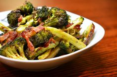 Roasted Broccoli & Bacon Recipe  #21dsd #veggies #paleo