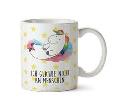 Tasse Einhorn Wolke 7  aus Keramik  Weiß - Das Original von Mr. & Mrs. Panda.  Eine wunderschöne Keramiktasse aus dem Hause Mr. & Mrs. Panda, liebevoll verziert mit handentworfenen Sprüchen, Motiven und Zeichnungen. Unsere Tassen sind immer ein besonders liebevolles und einzigartiges Geschenk. Jede Tasse wird von Mrs. Panda entworfen und in liebevoller Arbeit in unserer Manufaktur in Norddeutschland gefertigt.    Über unser Motiv Einhorn Wolke 7   Ein wunderschönes Einhorn aus der Mr. & Mrs…