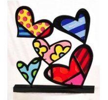 Britto 5 Hearts Sculpture