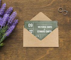 Wedding invitation template for a modern wedding Printable Wedding Invitations, Wedding Invitation Design, My Design, My Etsy Shop, Modern, Free Printable Wedding Invitations