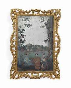 A CHINESE REVERSE-GLASS MIRROR PAINTING  18TH CENTURYhttp://www.christies.com/