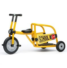 Find great deals on Italtrike's Pilot 300 Series School Bus Tricycle when you shop SCHOOLSin. Kids Trike, School Bus Driver, School Buses, Bicycle Workout, Outdoor Gym, Wheels On The Bus, Balance Bike, Rubber Tires, Early Learning