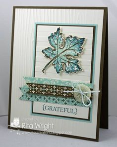 Hopeful Leaf - Stampin up Gently Falling stamp set