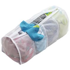 This would be great to separate knee hi's from thigh hi's from panty hose - 4-Section Micro Mesh Wash Bag