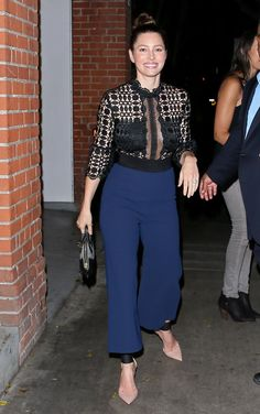Jessica Biel's Jumpsuit Is One Sexy Night-Out Outfit