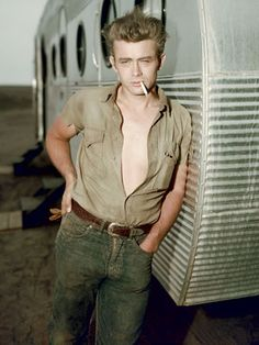 The Man: James Dean, Circa 1955    Actor, lover of khaki, denim, and the artfully dangled smoke.