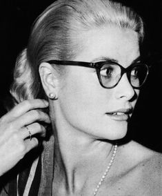 Grace Kelly, iconic eyewear style  Even wore glasses during her coronation as princess of Monaco. Respect.