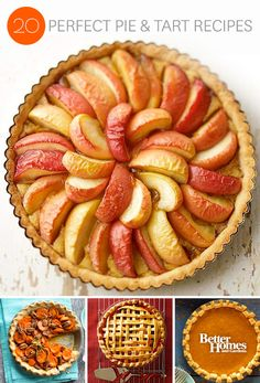From apple to pumpkin and everything in between, we have plenty of delicious pie and tart recipes for you to choose from: http://www.bhg.com/recipes/desserts/pies/fruit-pies-tarts/?socsrc=bhgpin101713pietarts&page=1