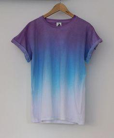 ANDCLOTHING — Purple Blue Horizon Dip Dye Tee