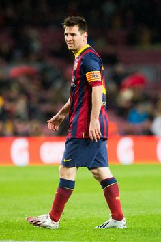 Lionel Messi of FC Barcelona looks on during the La Liga match between FC Barcelona and RC Celta de Vigo at Camp Nou on March 26, 2014 in Barcelona, Catalonia.
