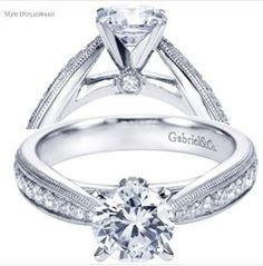 Contemporary engagement ring by Gabriel & Co.