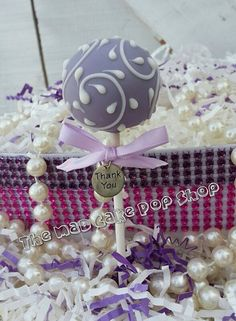 Hey, I found this really awesome Etsy listing at https://www.etsy.com/listing/128710999/lavender-cake-pop-wedding-favor-bridal