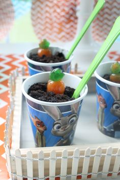 disney zootopia inspired birthday party carrot patch pudding cup recipe