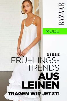 Fashion-Trends: Leinen ist das Trend-Material im Frühling 2020 Jeans Und Sneakers, Denim Look, Material, Blazer, Dresses, Outfits, Fashion, German Fashion, Sustainable Fashion