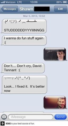 Sad David Tennant, Happy David Tennant