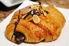 #TeaCollection the beauty of being so close to France- is delicious food options!  Chocolate croissant s'il vous plait