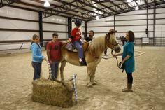 Practicing those lasso skills during Therapeutic Riding at ETC