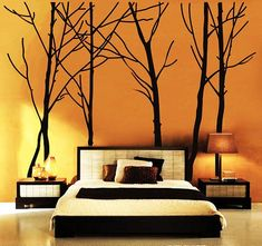 How cool would this be on your accent wall in your bedroom?  Branch with Flying Birds Vinyl Wall by NatureStyle on Etsy, $67.00
