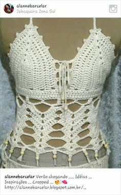 Crocheted festival boho lace top shirt camisole