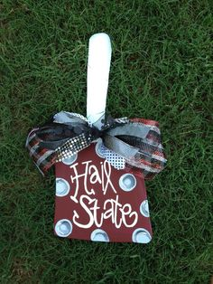Wooden cowbell  mississippi state university cowbell  by paintchic, $28.00