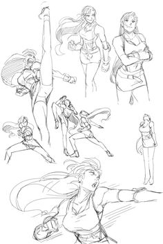 Love like sh*t - chirart: Warm-ups from the past week. Final...