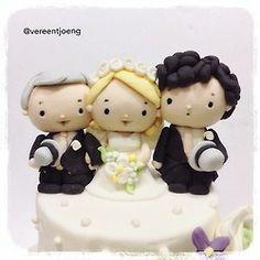 Johnlockary wedding cake topper <3