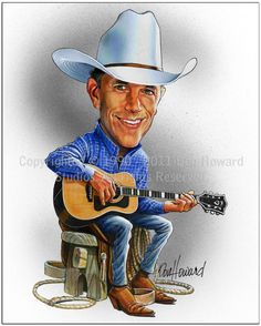 George Strait Limited Edition Celebrity Caricature by Don Howard