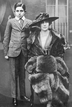 Victoria Eugenie with her son Jaime