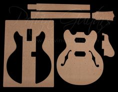 339 Style Archtop Guitar Template Set Online Lessons Guitars