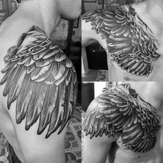 Shoulder Wings Chain/Shackles Tattoo