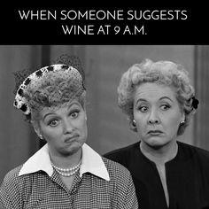 Funny I Love Lucy wine meme