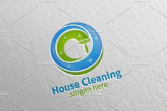 Cleaning Service Vector Logo Design by denayunebgt on @creativemarket