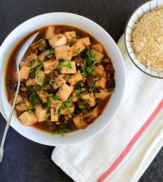 Vegetarian Mapo Tofu--A taste of China. I would love to test this in my Mom, who is well-versed in Chinese food!
