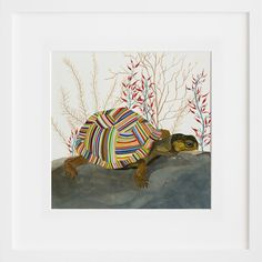 this would be cute for allie's room.  The Tortoise, by Carrie Marill | 20x200